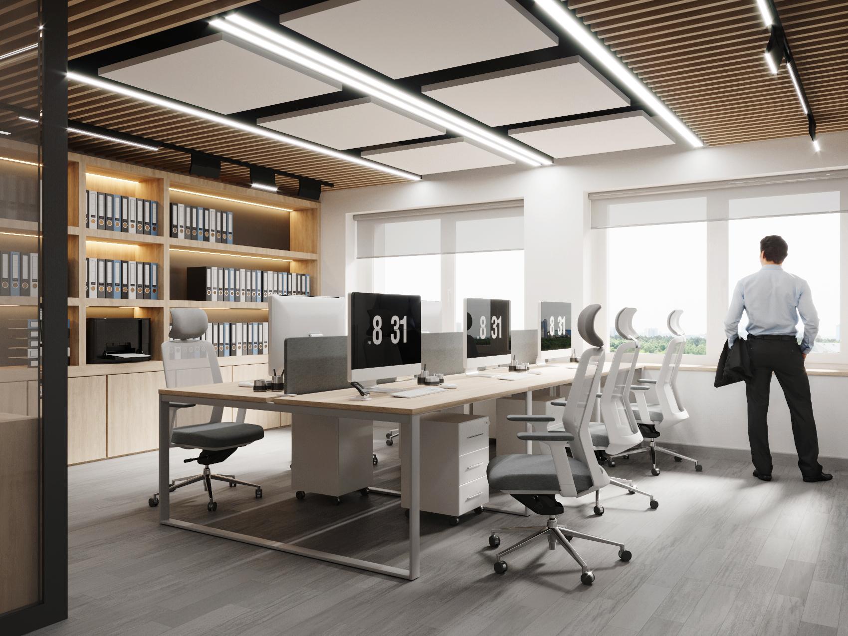 Лаконичный дизайн: офисное пространство